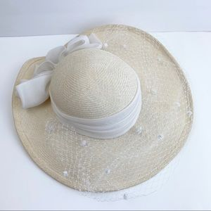 Vintage Cream Netting Sonni of San Francisco Hat
